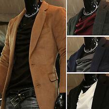 New Fashion Mens Modern Woolen Long Single Coat Jacket Jumper Blazer Top W709