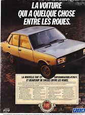 PUBLICITE ADVERTISING   1981    FIAT 131   SUPERMIRAFIORI