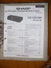 Service-Manual Sharp CR-CD10H HiFi-Anlage,ORIGINAL
