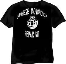 Kit de réparation de motos japonais-NOIR TSHIRT - 6 Tailles