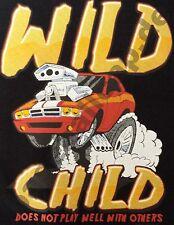 Kinder T-Shirt #603 WILD CHILD, HOT ROD Route 66 Dragrace USA Biker