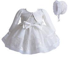 bébés filles crème dentelle fête robe baptême BONNET VESTE 0 3 6 9 12 mois