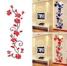 Arte de  pared de cristal acrílico 3D pegatinas salón dormitorio fondo TV Stick
