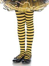Leg Avenue 4710 girls costume tights stockings Black yellow bee striped stripe