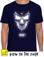 Halloween Skull Boo Scary T-Shirt Hell Horror Biker Gift Motorcycle Spooky Fancy