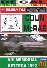 DECALS 1//43 REF 1007 SUBARU LEGACY COLIN MC RAE RALLYE TOUR DE CORSE 1993 RALLY