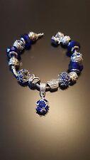 Girls/Women Silver Plated Crystal dora Rhinestone Charms Bead Charm Bracelet