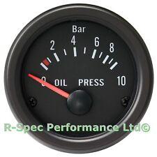 Cara Negra 52mm/Lente Transparente Prensa De Presión De Aceite Kit de calibre con barra de sensores