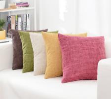 Baumwolle Leinen Kissenbezug Sofa Taille Wurfkissen Solide Abdeckung A016