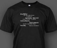 Charles Bukowski Quote T-shirt Non Drunk Barfly Pulp S M L XL 2XL 3XL 4XL 5XL