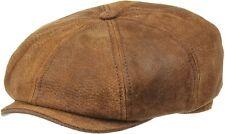 Stetson Burney Leather Bakerboy Cap (Newsboy/Gatsby)