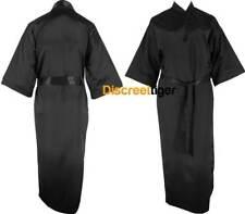 Black Satin Robe Full Length Kimono Dressing Gown Bridal Party Sizes 6 to 24