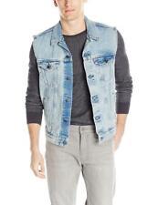 Levi's Strauss Men's Premium Cotton Button Up Denim Jeans Trucker Vest #006