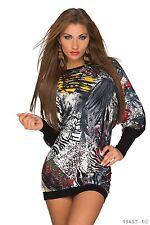 Women's Wear Chic Elegant Bat wing Sleeves Jumper Mini Dress UK size 8-10