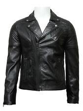 Vintage Men leather biker jacket Distressed Leather Jacket Vintage Retro Effect
