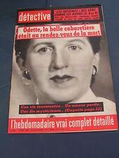 Détective 1962 843 TREGASTEL BORGO BOUSIES RIS ORANGIS BAYONNE POITIERS NANCY