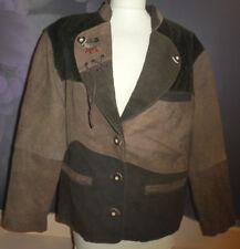 Damen Trachten Jacke Janker braun/grün Gr. 36 von Original Alphorn Trachtenmode