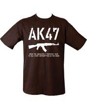 Black Men's Funny Slogan Novelty Joke Gift T-Shirt AK 47 Logo