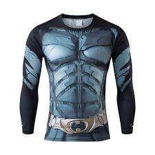 Da Uomo Batman Compressione Top Palestra Supereroe Avengers Marvel Muscolo Regalo