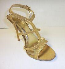 Women's Gold Glitter Criss Cross High Heel Party Shoes Sizes: 5 1/2 - 10
