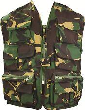 Kids Unlined Vest British DPM - Camo Action Paintball Army Uniform Fancy Dress