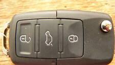 VW Volkswagen Remote key fob HAA flip blade 3 Button BORA GOLF PASSAT