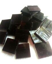 "Dark Purple White Wispy Spectrum Stained Glass Mosaic Tiles -U Pick 1/2"" or 3/4"""