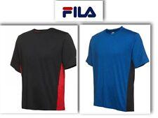 FILA Men Training Performance Short Sleeve Crew Neck Moisture Wicking Tee M, XXL