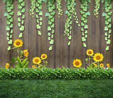 3D Sunflower Green Vines Wall Paper Wall Print Decal Wall Deco Indoor Murals