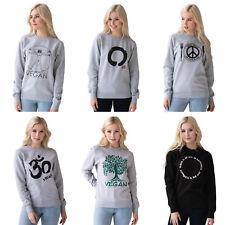 Vegan Sweatshirt Plant Based Slogan Gift for Printed Womens Girls Jumper Sweater
