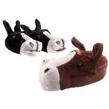 Pferd Esel Tier Hausschuhe Pantoffel Schlappen Kuscheltier Plüsch Unisex 35-48