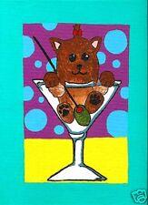 YORKSHIRE TERRIER Yorkie MARTINI 1 Dog Art PRINT VERN