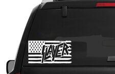 Slayer American Body Flag Decal / Window Sticker Thrash Metal 2 Sizes 14 Colors