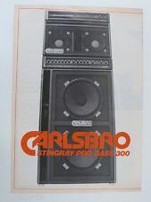 retro magazine advert 1981 CARLSBRO stingray bass 300