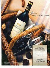 PUBLICITE 2012  Chateau MEYNEY la grande récéption vins