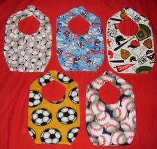 NEW cute Child BABY BIB baseball football soccer play ball sports 5 designs
