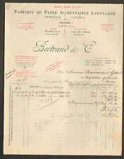 """LE HAVRE (76) USINE de PATE ALIMENTAIRE SEMOULE TAPIOCA """"BERTRAND & Cie"""" en 1914"""