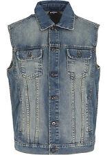 URBAN CLASSICS Gilet Giacca Giubbotto jeans uomo Denim Vest TB514 Size L