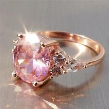 Fashion Women Crystal Diamond Ring Zircon Ring Wedding Party Jewelry Gift LA