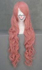 Perruque longue rose frisée 90cm, cosplay luka, lacus clyne