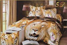 Animal Collection Duvet Cover & Pillowcase Bedding Set (Various Designs/Sizes)