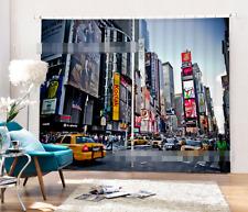 3D City Car 0120Blockout Photo Curtain Printing Curtain Drapes Fabric Window UK