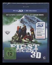 BLU-RAY FIRST DESCENT - 3D + 2D VERSION SNOWBOARD-ACTION mit SHAUN WHITE * NEU *