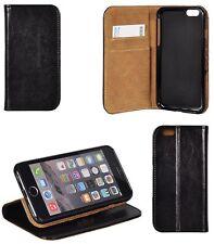iPhone 5 6 7 8 10 X Plus ECHT LEDER Tasche Lederhülle Schutzhülle Book Case