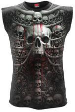 Spiral Direct DEATH RIBS, Allover Sleeveless T-Shirt Black|Skulls|Horror|Blood
