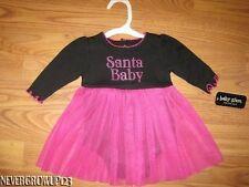 BABY GLAM~SANTA BABY CHRISTMAS DRESS~NB~0-3M~3-6M~NWT