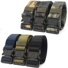 "1.5"" Tactical Nylon Web Belt  Outdoor Quick Released Buckle Trousers Belt 9Color"