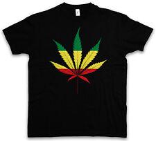 Panafrican cannabis Leaf T-SHIRT-Rasta ERBA Irie marijuana marijuana SHIRT