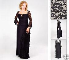 NEW Zaftique GRAND BALLROOM Dress BLACK 0Z 1Z 2Z 3Z 4Z / 14 16 L XL 1X 2X 3X 4X