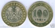 KAZAKHSTAN:  bi-metallic 100 tenge *date 2002*UNC